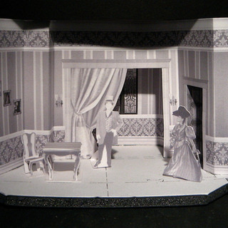 """Victorian period. White model made using PhotoShop (1""""=1/8"""" scale)"""
