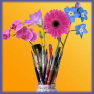 Flowers and Brushes