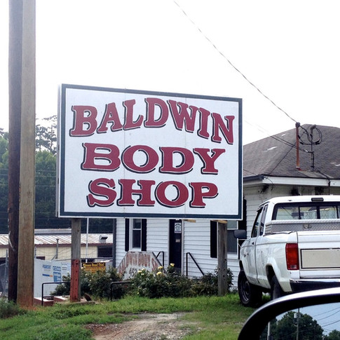 Baldwin Body Shop Sign