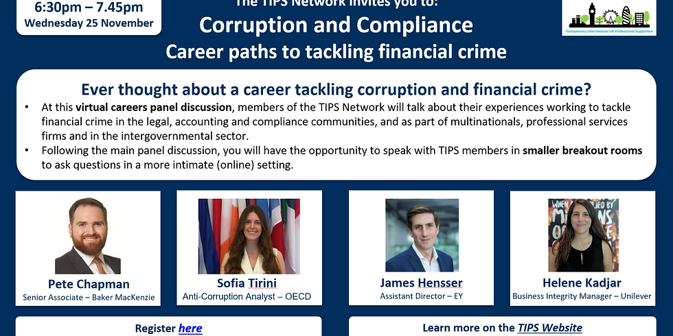 Corruption and Compliance: Career paths to tackling financial crime