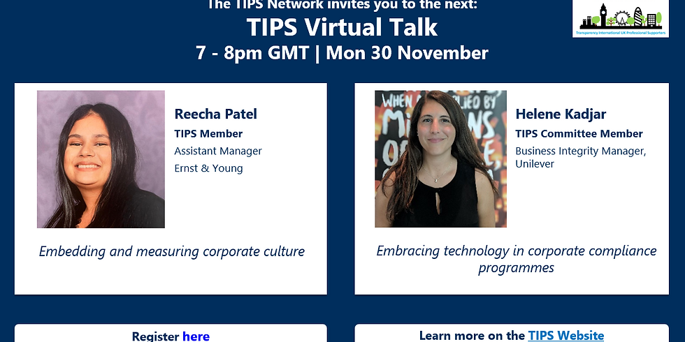 TIPS Online Networking Discussion   November 2020