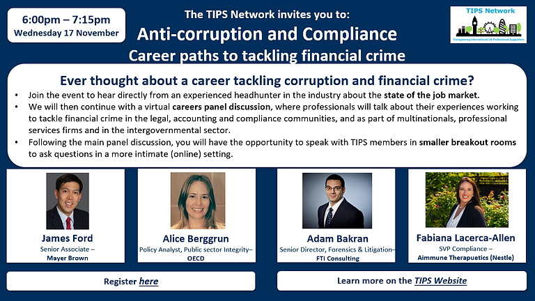 Anti-corruption and Compliance: Career paths to tackling financial crime