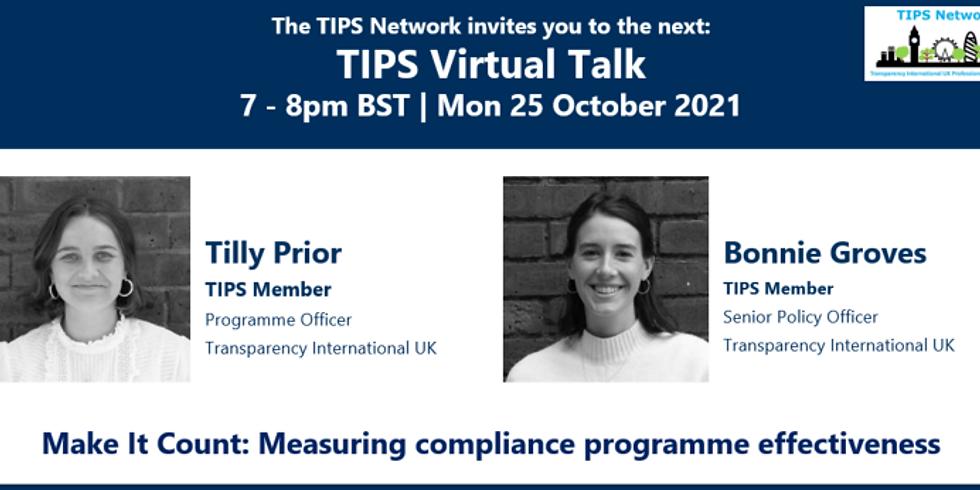 TIPS Virtual Talk   October 2021