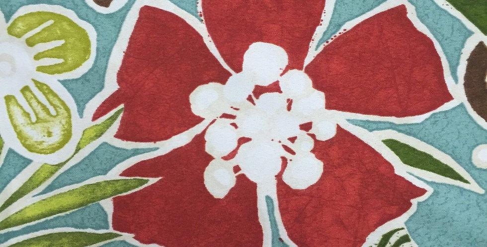 Aqua Red Green Outdoor Fabric