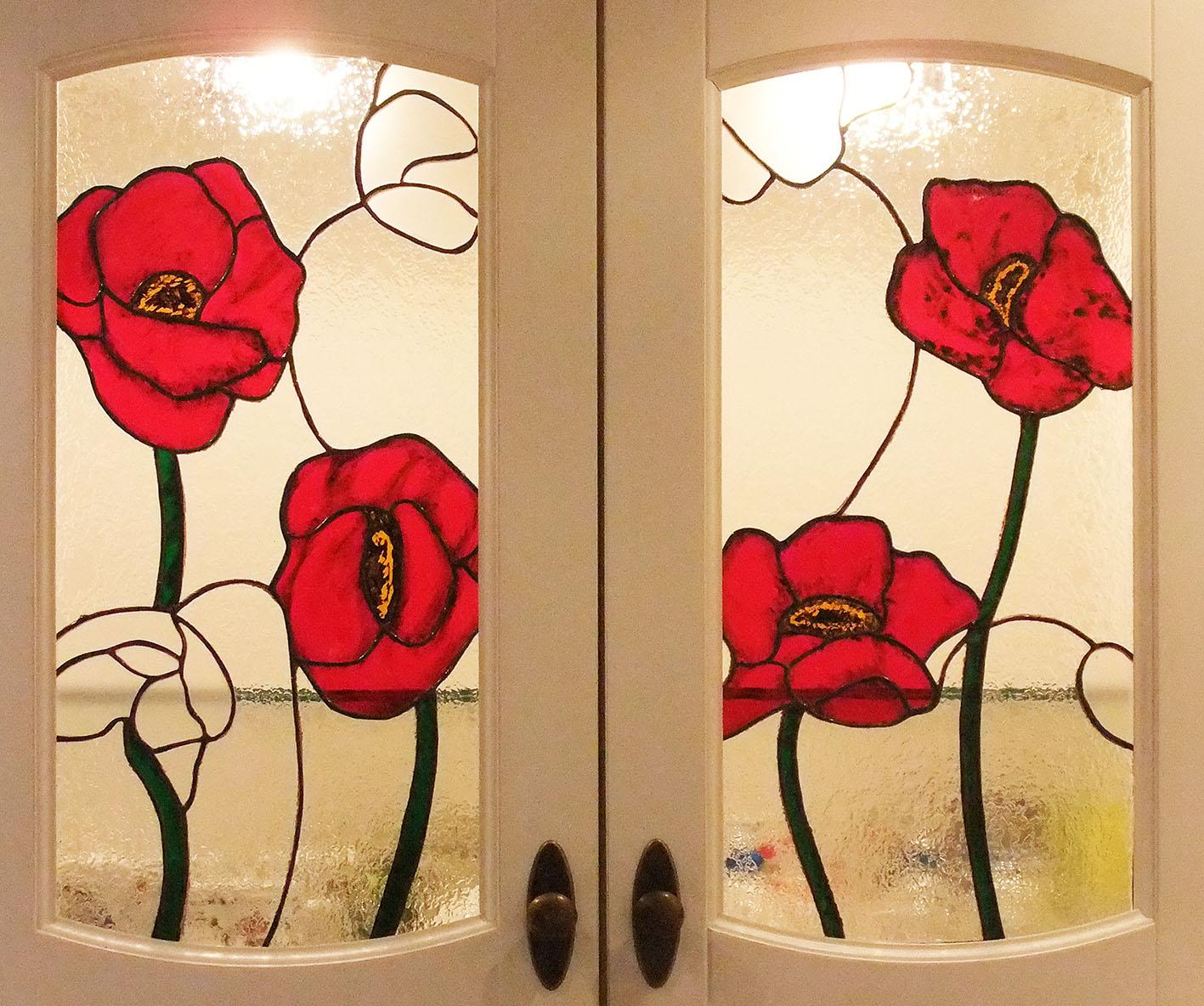 Coquelicots (Tiffany 55 x 25) par Brig