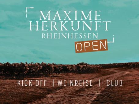 Ontdek Rheinhessen tijdens Maxime Herkunft Open 15 - 17 mei 2020