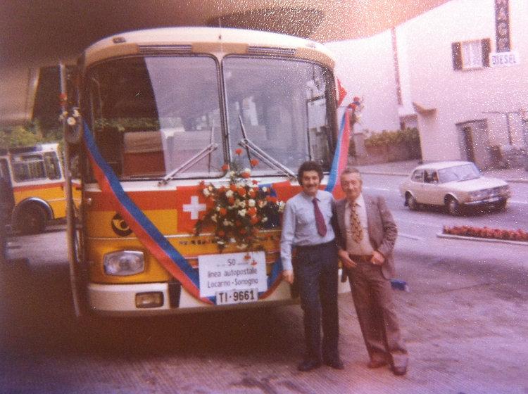 Franco e Plino Chiesa, 50mo linea Valle Verzasca 1977