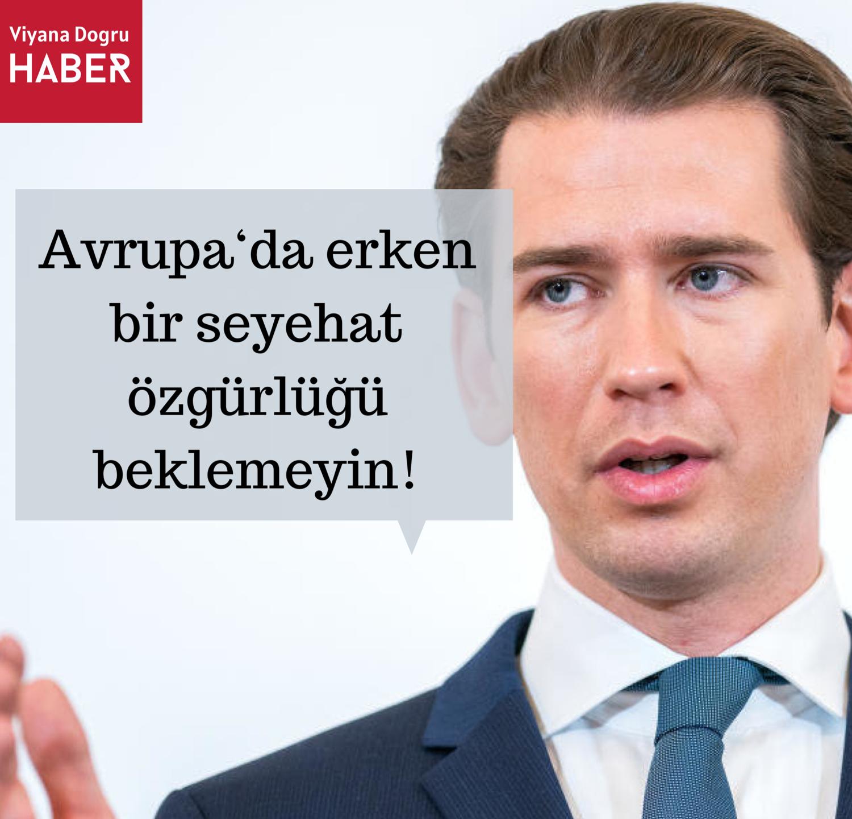 Sebastian Kurz basın toplantısında açıklama yapıyor