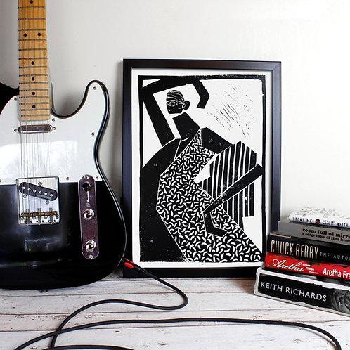 A3 Lino Print - Anta