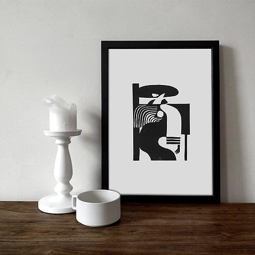 JINETE / Limited Edition Lino Print