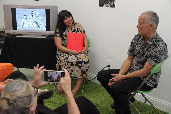 Yuri Shimoda interviewing Ed Ikuta