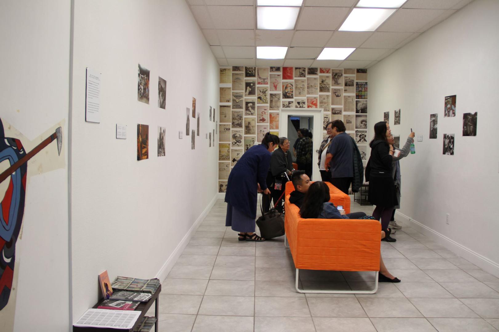 Photo exhibit visitors