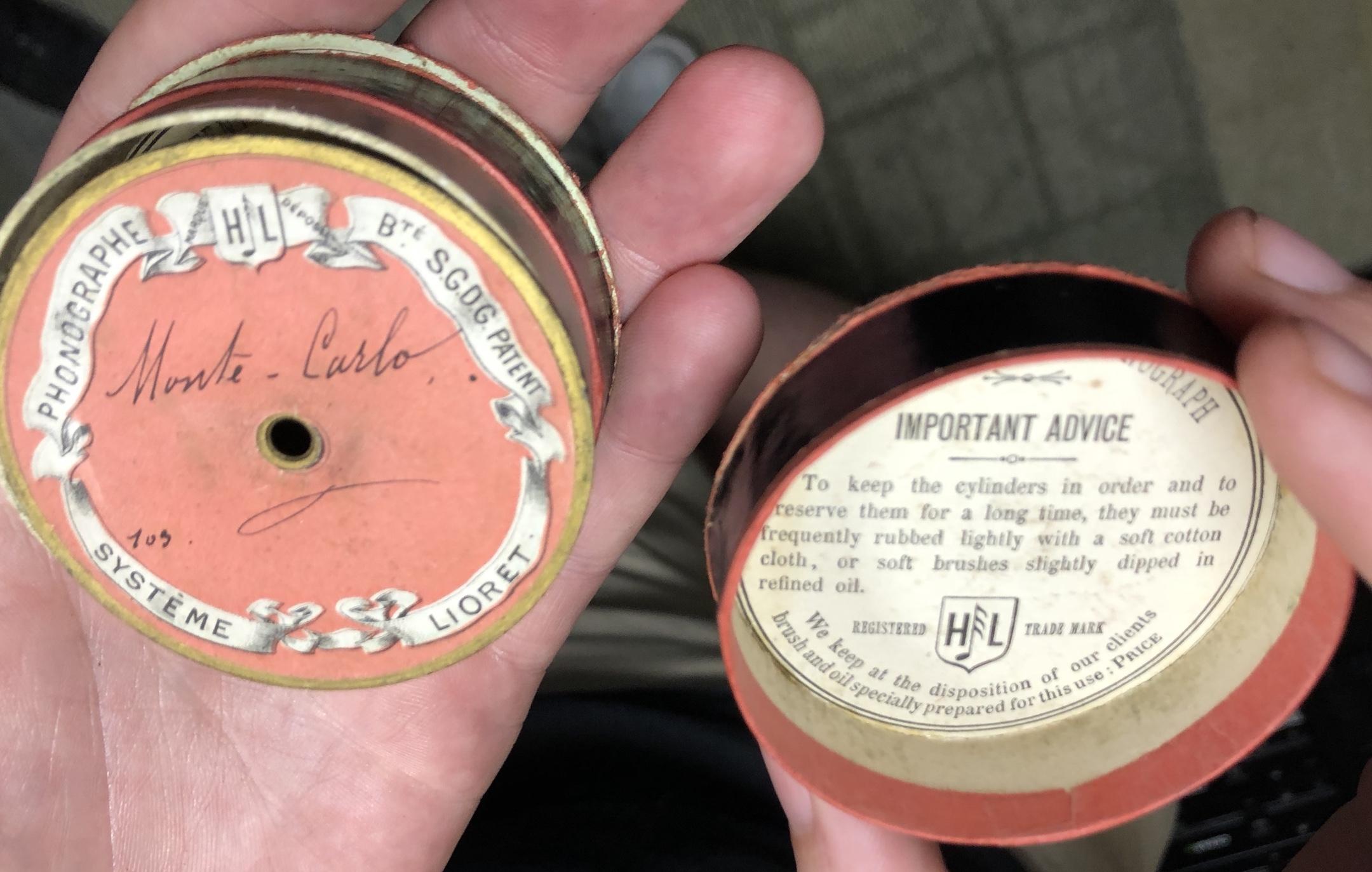 Lioret cylinder recording