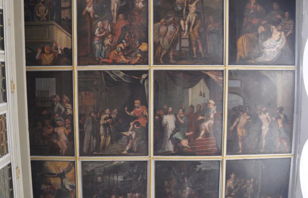 Kirche Oelzschau - Deckengemälde