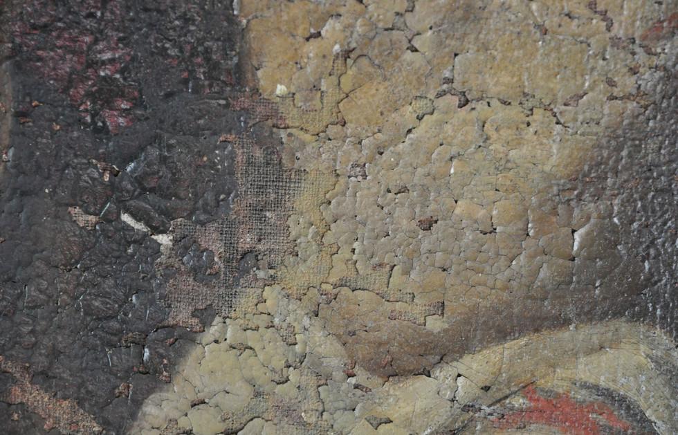 Kirche Oelzschau - Schäden an den Bildern