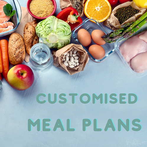 7-day CUSTOMISED Meal Plan
