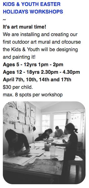 Yamba Art Space Gallery Workshop