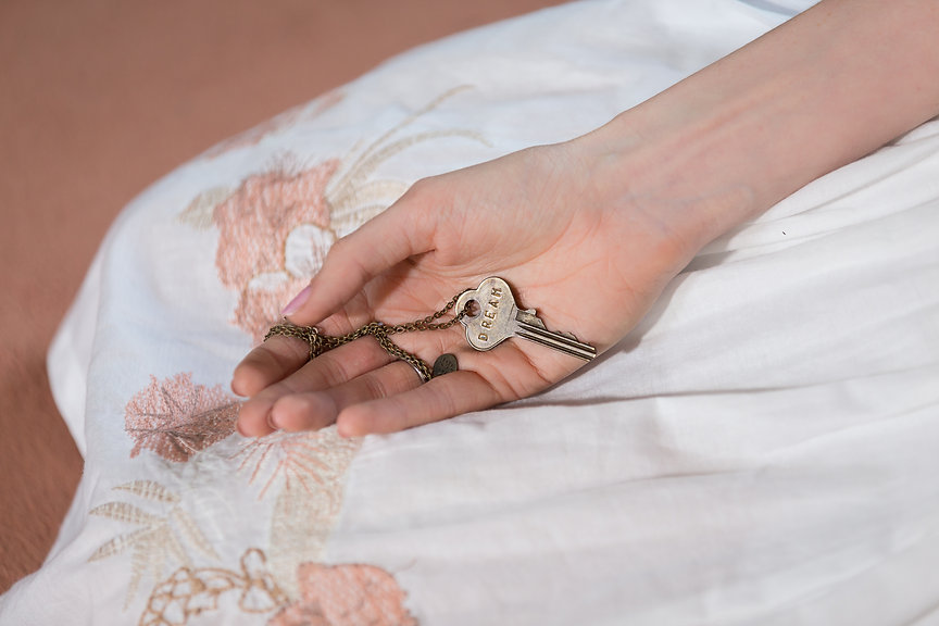 Dream Key and Louise Campion's hand