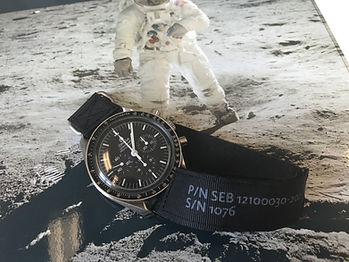 NASA strap for Omega Speedmaster Moonwatch with original VELCRO