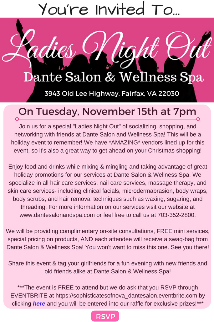 Ladies Night Out is Coming Up! Mark Your Calendars! (11/15/16)