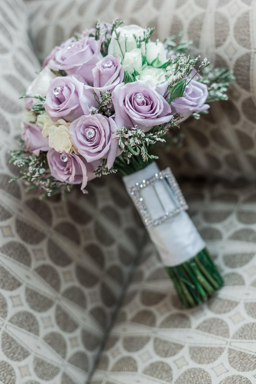 Purple rose bridal bouquet