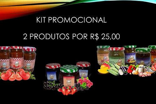 Kit promocional 2 produtos por R$ 25