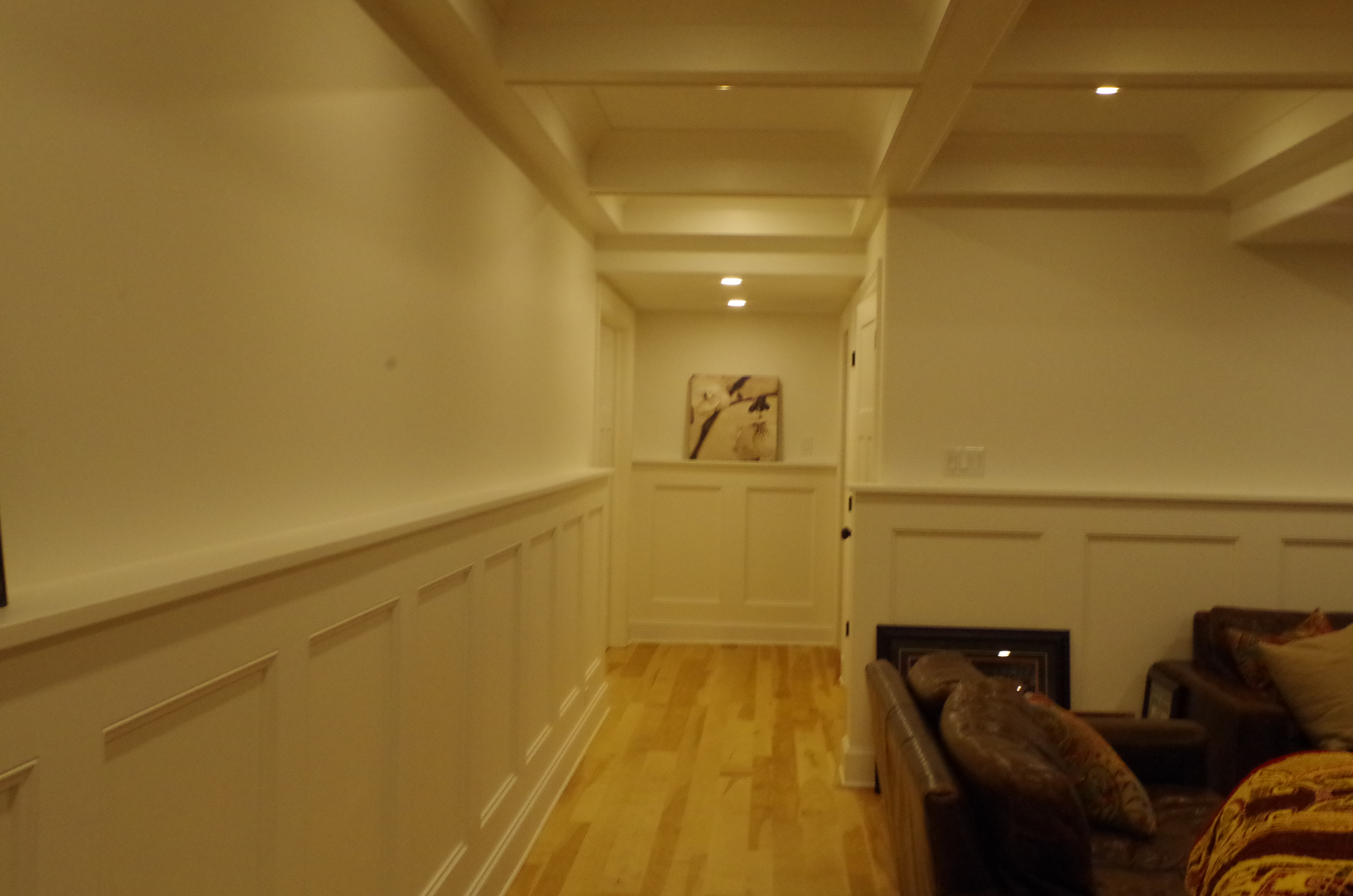 Hall paneled walls
