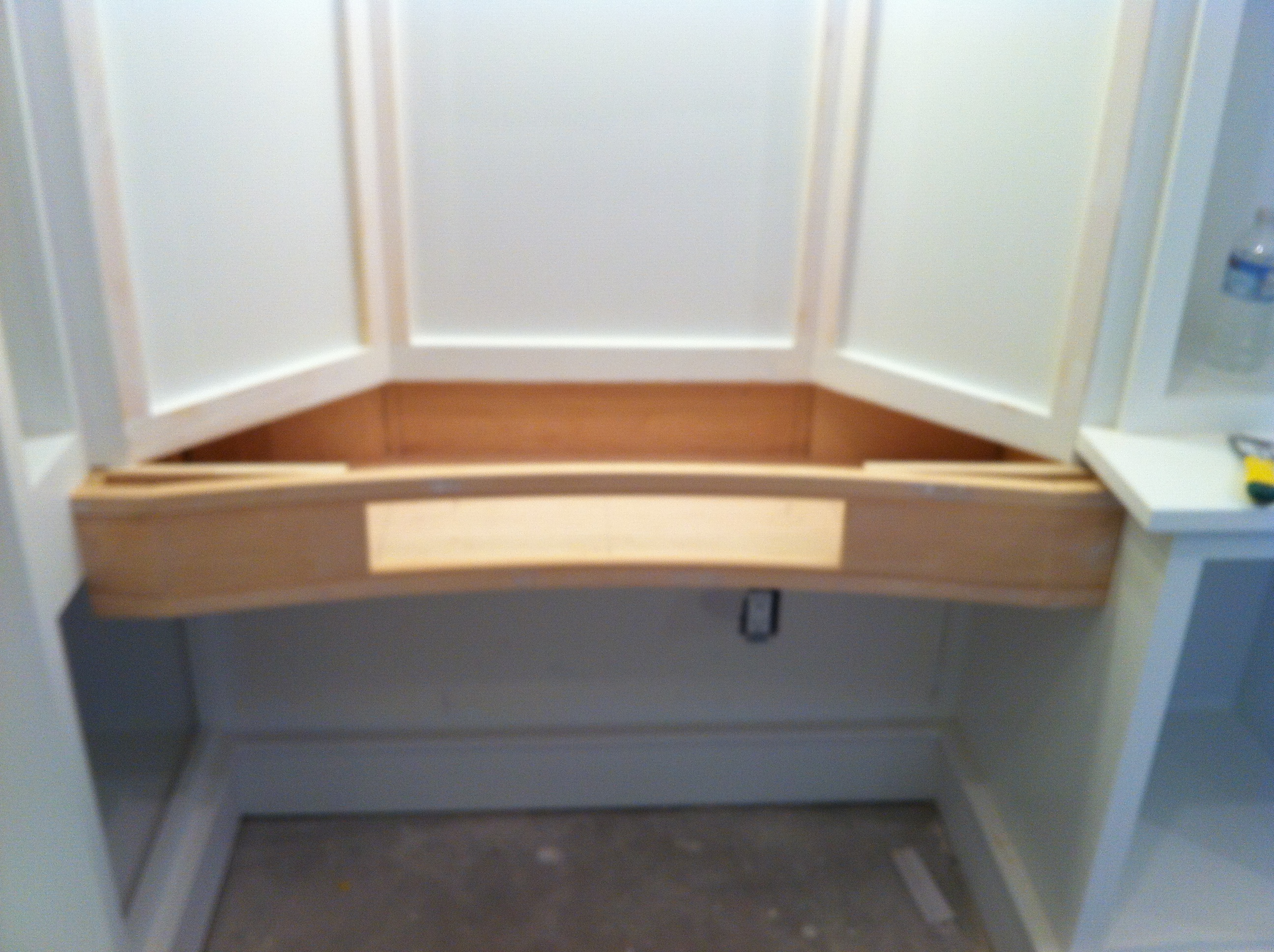 vanity curved drawer