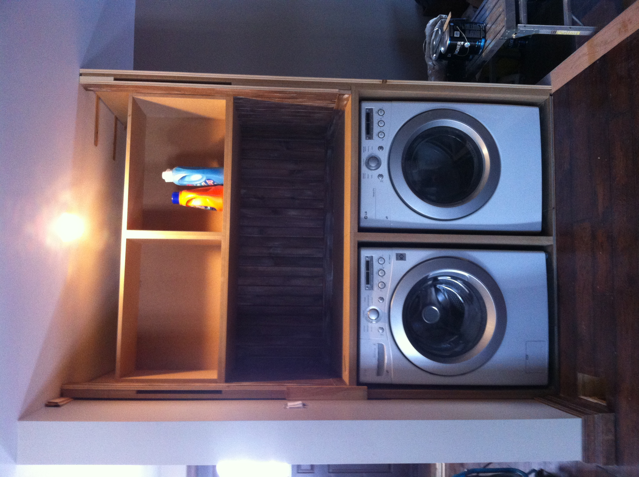 washer dryer nook