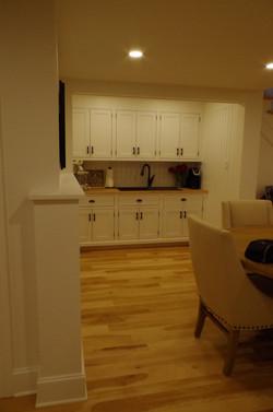 basement kitchen ,shaker
