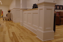 columns with paneled divider