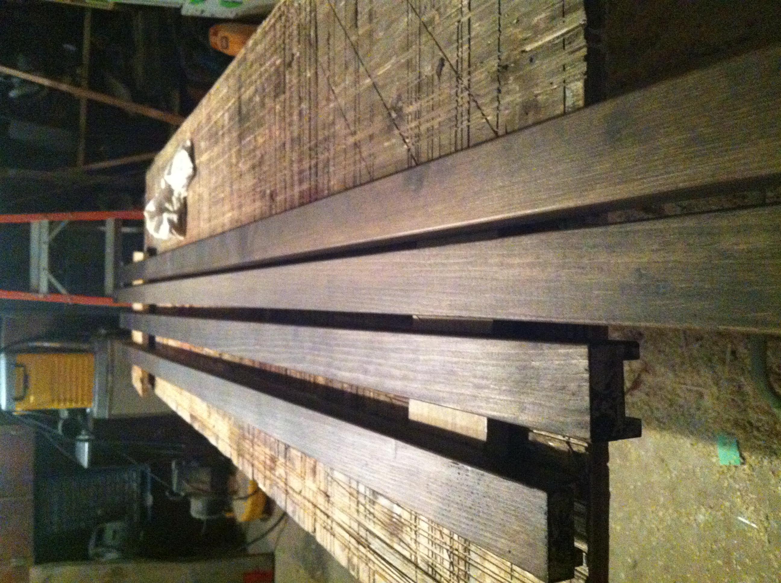teak ship rails