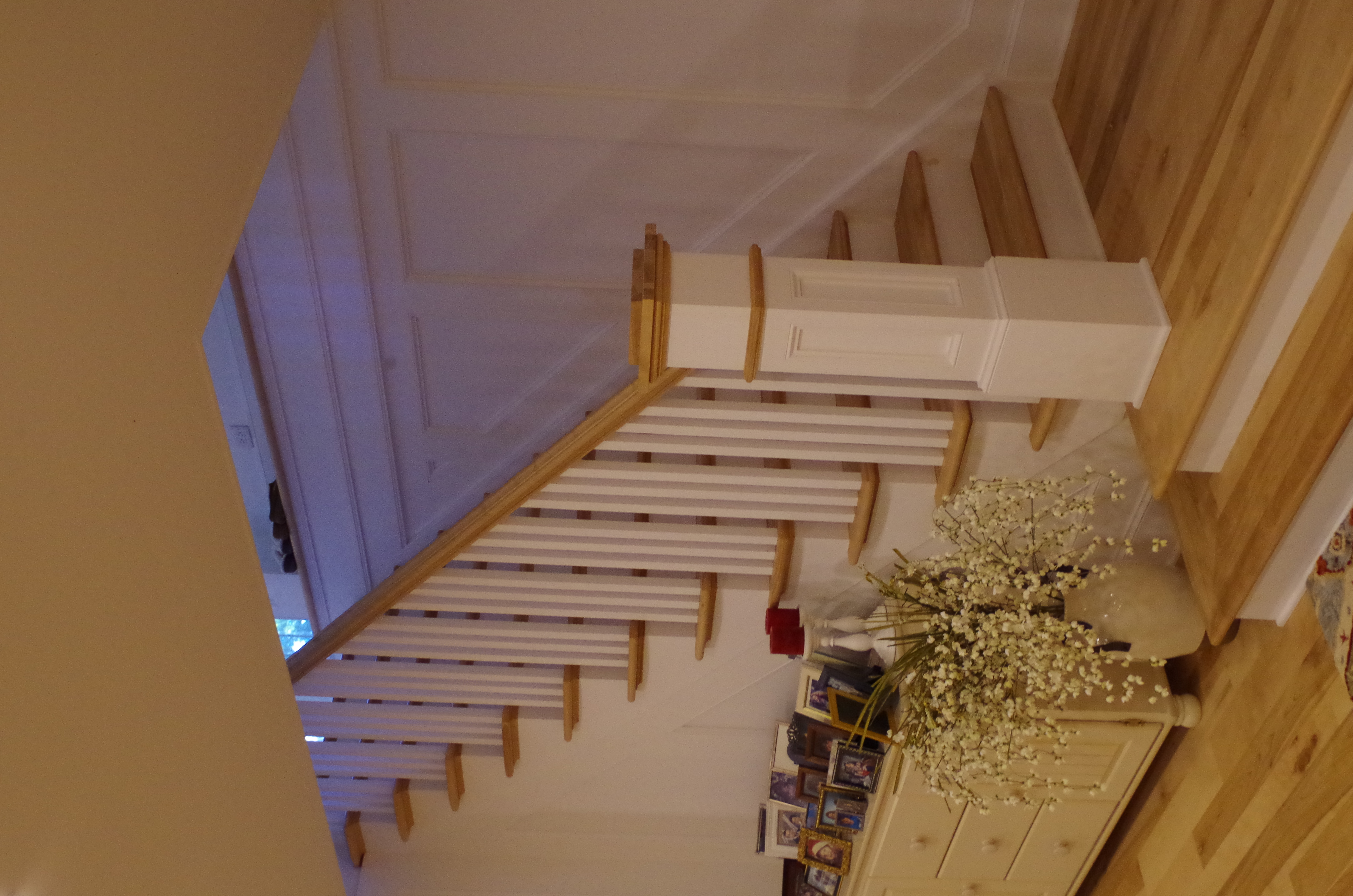 custom hand rail and newel