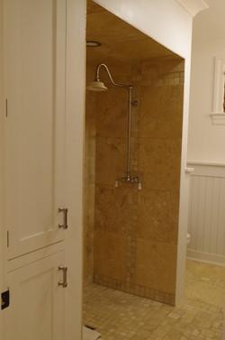 custom shower ,no doors