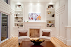built ins and mantel