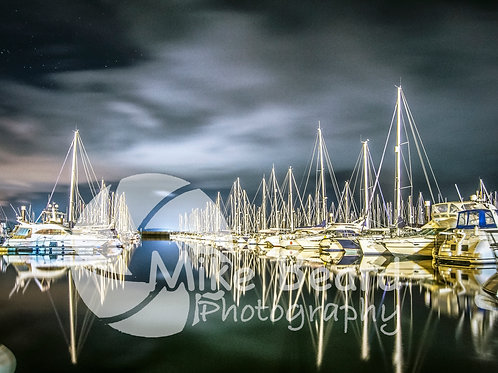 LARGS YACHT HAVEN AT NIGHT