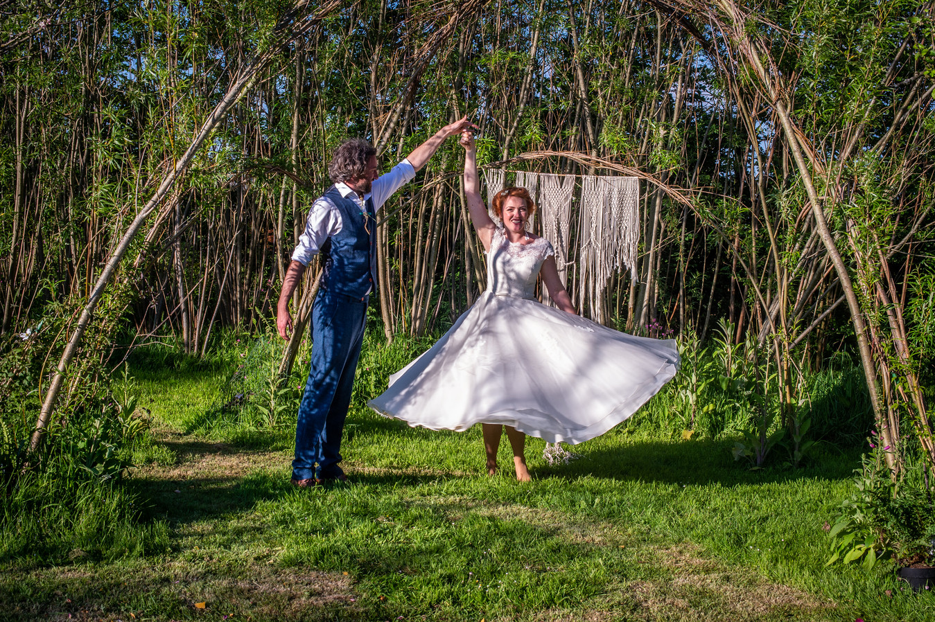 Megan and Tom and another twirl in the sun