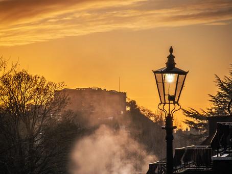 Nice sunrise above Nottingham Castle today
