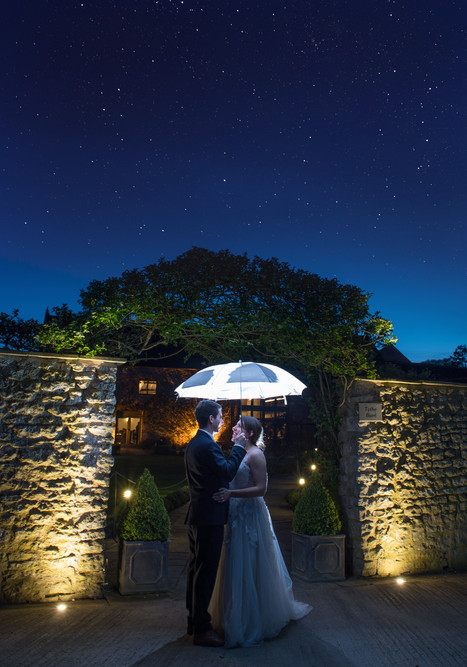 Emilie and Gio under the night sky