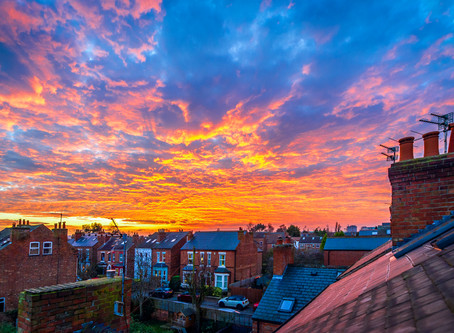 Sunset over Lady Bay, Nottingham