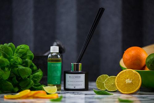 100ml Reed Diffuser REFILL - Lime, Basil & Mandarin