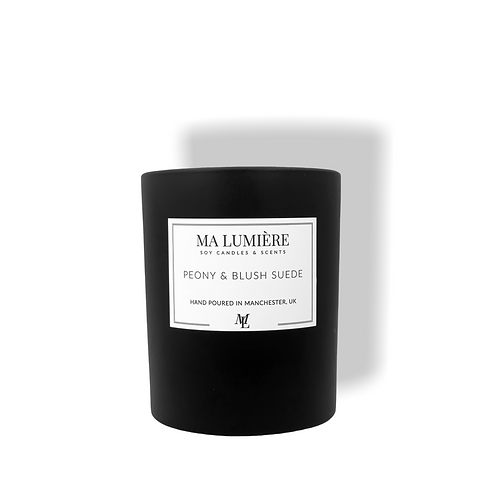 30cl Soy Candle - Peony & Blush Suede