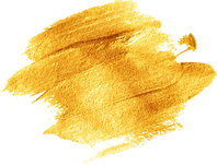 Gold paint stroke