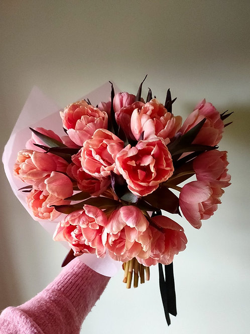 Seasonal pink Tulip bouquet