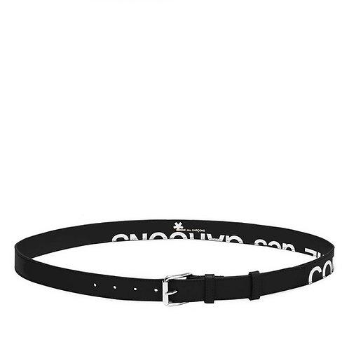 CDG Wallet Huge Logo Belt - Black