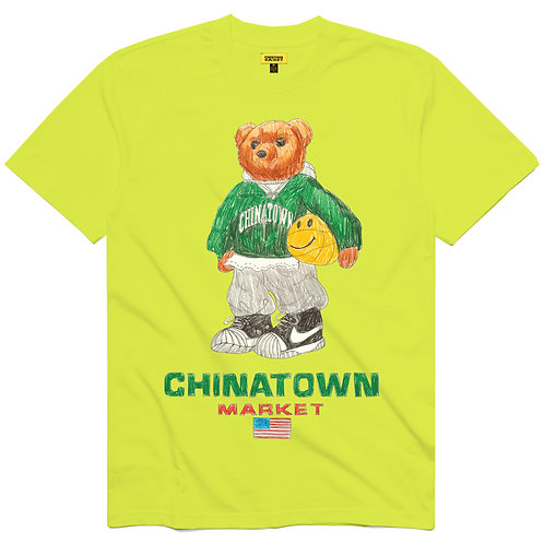Chinatown Market Smiley Sketch Basketball Bear Tee