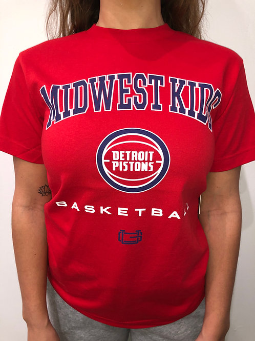 Midwest Kids x Ultra Game Detroit Pistons Tee