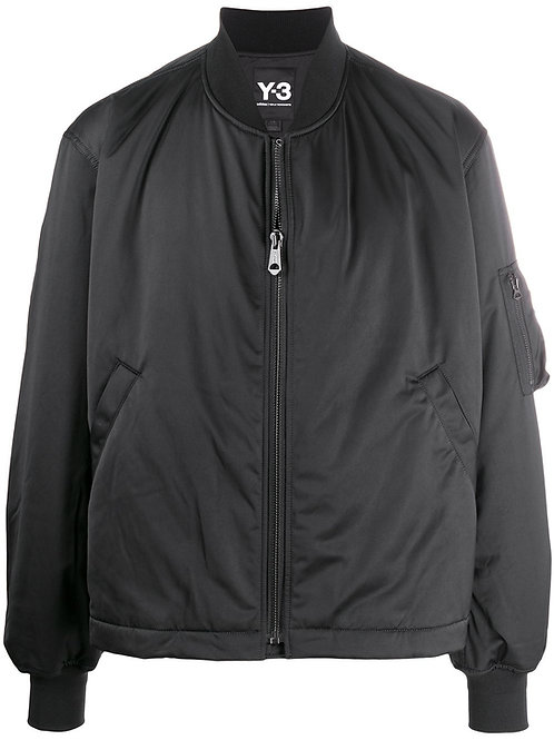Y-3 embroidered text bomber