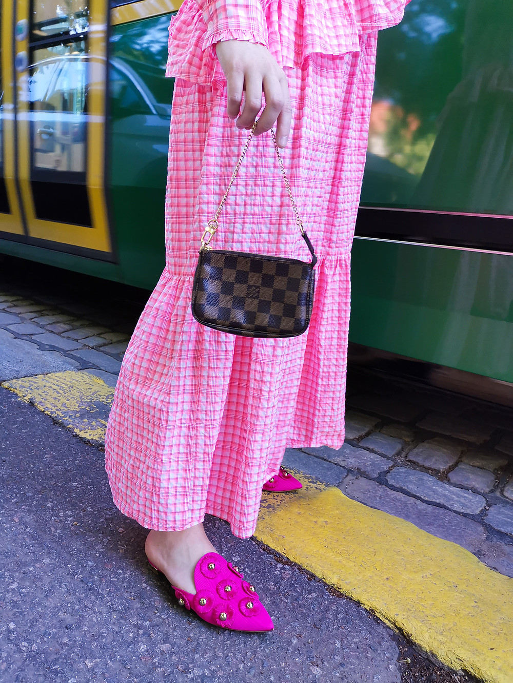 Hertta wearing LV Mini Pochette