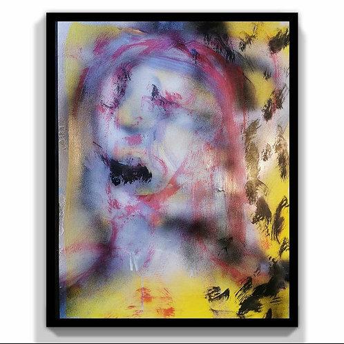 Growth. Oil, Acrylic and Spray Paint on Canvas 68 x 54 cm